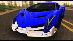 Lamborghini Veneno White-Black 2015 (ADD IVF) pour GTA San Andreas