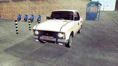 Moskvitch 412 Blanc Hirondelle
