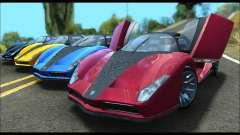 Grotti Cheetah v3 (GTA V) (SA Mobile) für GTA San Andreas