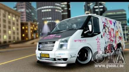 Ford Transit SWB Love Live für GTA San Andreas