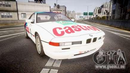 BMW E31 850CSi 1995 [EPM] Castrol White pour GTA 4