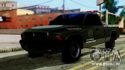Dodge Dakota National Guard Base Police pour GTA San Andreas