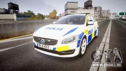 Volvo V60 Swedish Police [ELS] für GTA 4