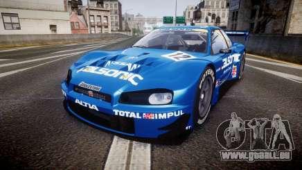 Nissan Skyline R34 2003 JGTC Calsonic pour GTA 4