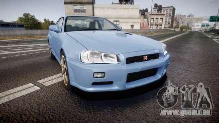 Nissan Skyline R34 GT-R V.specII 2002 pour GTA 4