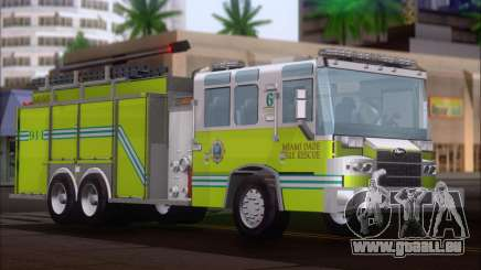 Pierce Quantum Miami Dade FD Tanker 6 für GTA San Andreas