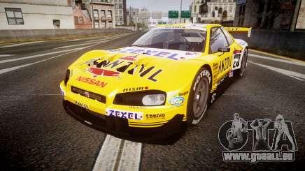 Nissan Skyline R34 2003 JGTC Pennzoil pour GTA 4