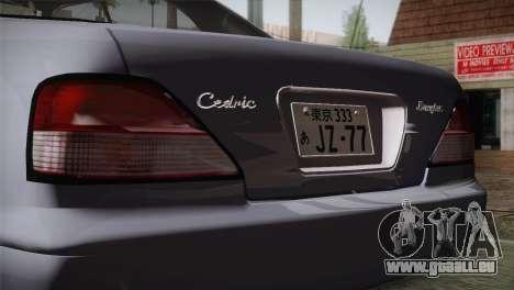 Nissan Cedric pour GTA San Andreas vue arrière