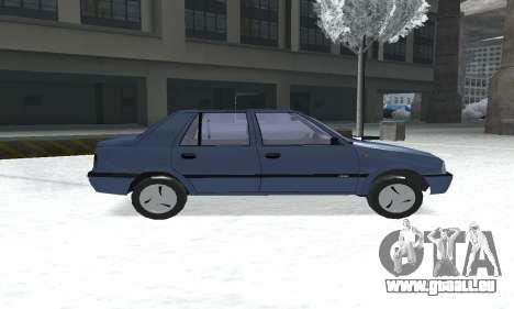 Dacia Super Nova pour GTA San Andreas sur la vue arrière gauche