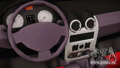 Dacia Logan Most Wanted Edition v1 pour GTA San Andreas vue arrière