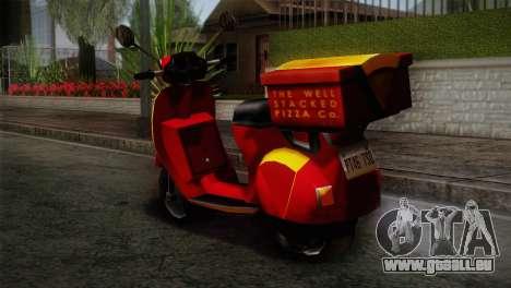 Original Pizzaboy IVF pour GTA San Andreas laissé vue