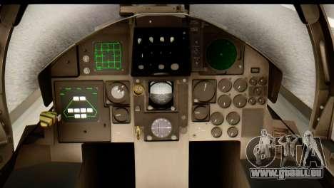 F-15DJ Mitsubishi Heavy Industries pour GTA San Andreas vue arrière