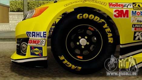 NASCAR Toyota Camry 2013 pour GTA San Andreas sur la vue arrière gauche