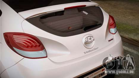 Hyundai Veloster 2012 Autovista für GTA San Andreas rechten Ansicht