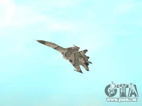 Su 27 für GTA San Andreas Innenansicht