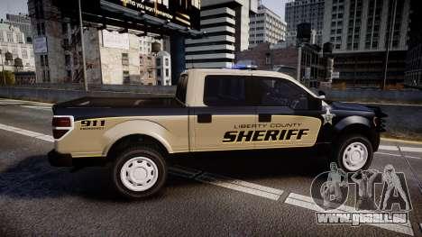Ford F150 2010 Liberty County Sheriff [ELS] pour GTA 4 est une gauche