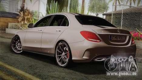 Mercedes-Benz C250 AMG Edition 2014 EU Plate für GTA San Andreas linke Ansicht