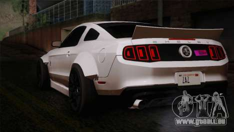 Ford Shelby GT500 RocketBunny SVT Wheels für GTA San Andreas linke Ansicht