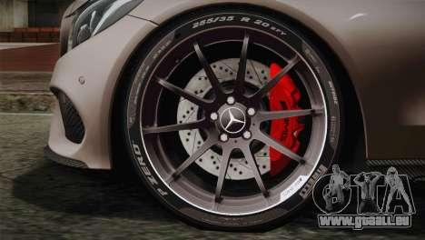 Mercedes-Benz C250 AMG Edition 2014 EU Plate für GTA San Andreas zurück linke Ansicht