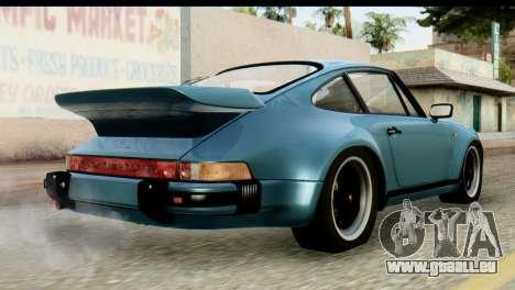 Porsche 911 Turbo 3.3L 1981 Tunable pour GTA San Andreas laissé vue