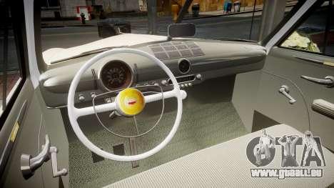 Ford Custom Club 1949 v2.1 pour GTA 4 est une vue de l'intérieur