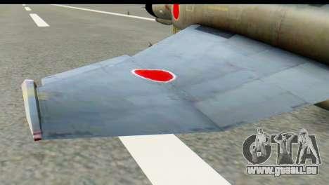 F-4EJ Mitsubishi Heavy Industries pour GTA San Andreas sur la vue arrière gauche