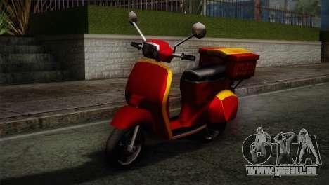 Original Pizzaboy IVF pour GTA San Andreas