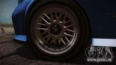 GTA 5 Invetero Coquette v2 pour GTA San Andreas sur la vue arrière gauche
