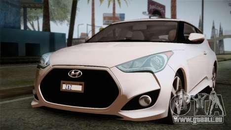 Hyundai Veloster 2012 Autovista pour GTA San Andreas