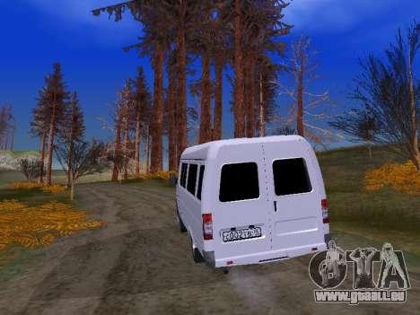 GAZ 2705 für GTA San Andreas Innenansicht