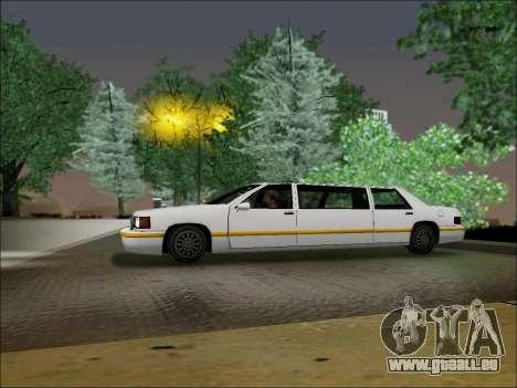 Elegant Limousine pour GTA San Andreas laissé vue