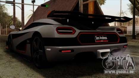 Koenigsegg One 1 pour GTA San Andreas laissé vue