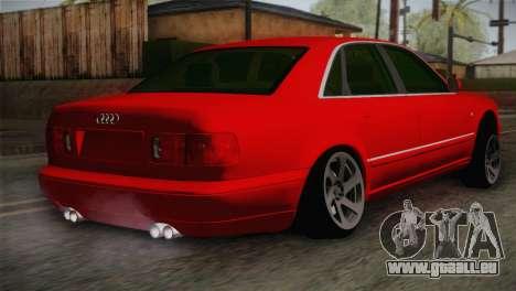 Audi A8 2000 pour GTA San Andreas laissé vue