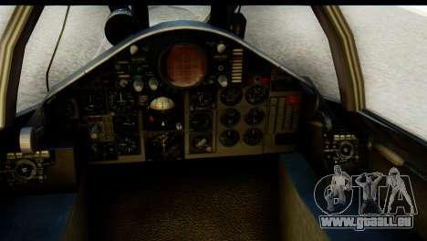 F-4EJ Mitsubishi Heavy Industries pour GTA San Andreas vue arrière