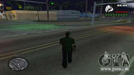 Les noms de rue sur le radar pour GTA San Andreas troisième écran