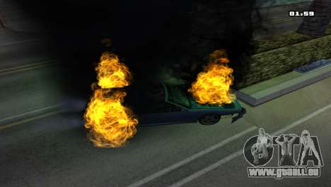 Burning Car für GTA San Andreas