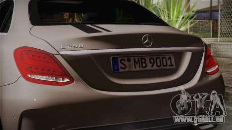 Mercedes-Benz C250 AMG Edition 2014 EU Plate für GTA San Andreas rechten Ansicht