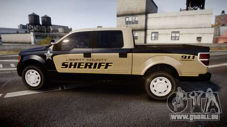 Ford F150 Liberty County Sheriff [ELS] Slicktop für GTA 4 linke Ansicht