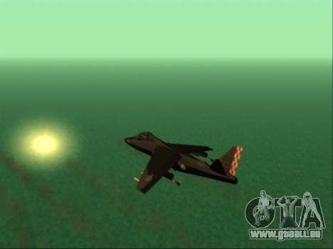 McDonnell Douglas AV-8B Harrier II Beta für GTA San Andreas obere Ansicht