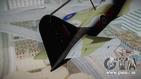 ИЛ-10 de la Royal Air Force pour GTA San Andreas sur la vue arrière gauche