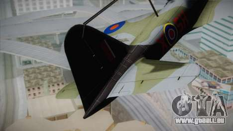 ИЛ-10 Royal Air Force für GTA San Andreas zurück linke Ansicht