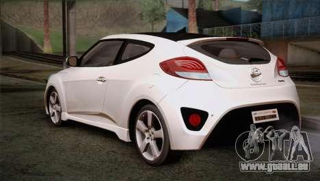 Hyundai Veloster 2012 Autovista pour GTA San Andreas laissé vue
