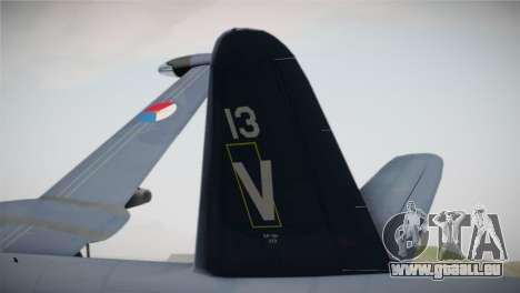 Lockheed P2V-7 Neptune MLD pour GTA San Andreas sur la vue arrière gauche