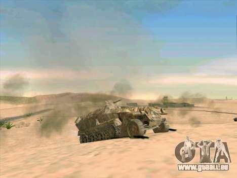 Sd Kfz 251 Camouflage Desert pour GTA San Andreas vue de côté