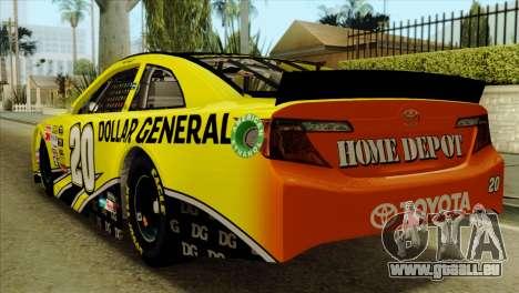 NASCAR Toyota Camry 2013 pour GTA San Andreas laissé vue