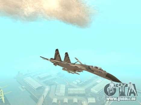 Su 27 für GTA San Andreas Rückansicht