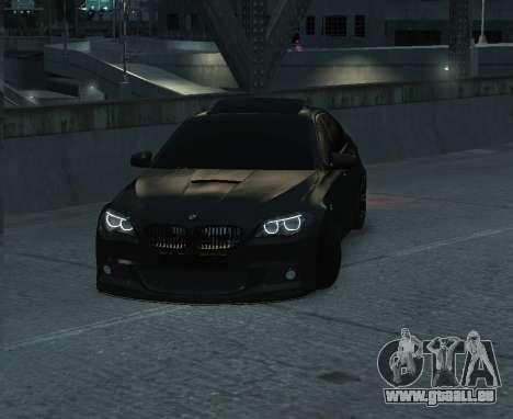 BMW M5 F10 2014 pour GTA 4 Vue arrière de la gauche