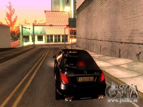 Mercedes-Benz Long S65 W222  Black loaf für GTA San Andreas linke Ansicht