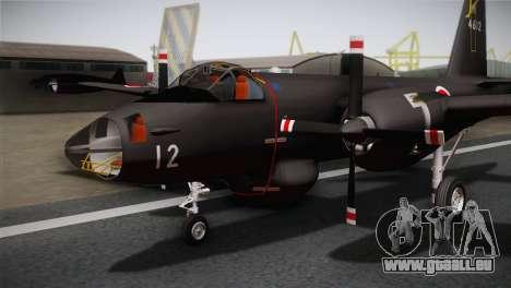 P2V-7 Lockheed Neptune RCAF pour GTA San Andreas vue arrière