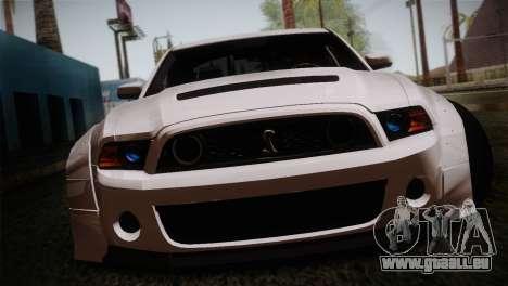 Ford Shelby GT500 RocketBunny SVT Wheels für GTA San Andreas Rückansicht